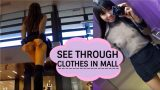 Littlesubgirl - See Through Clothes In Mall