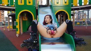 AsianDreamX / AikoDoll - Horny Roller Public Flashing Plug Dildo